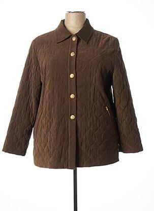Manteau long marron KARTING pour femme