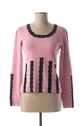 Pull col rond rose SAGAIE pour femme