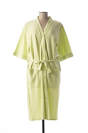 Peignoir vert ROSE POMME pour femme