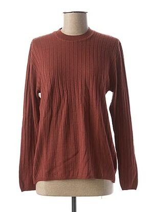 Pull col rond marron KARTING pour femme
