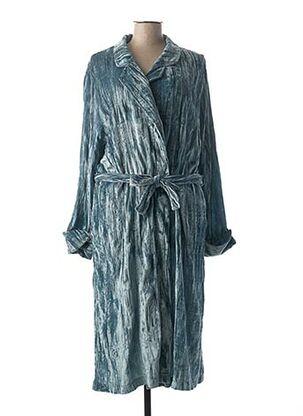 Robe de chambre bleu LOHE pour femme