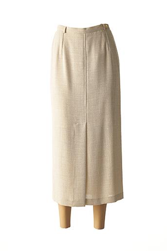 Jupe longue beige FEDORA pour femme