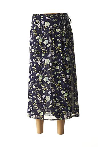 Jupe longue bleu ALMINA pour femme