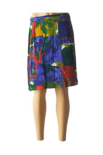 Jupe mi-longue bleu FEDORA pour femme