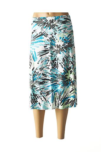 Jupe mi-longue bleu LEBEK pour femme