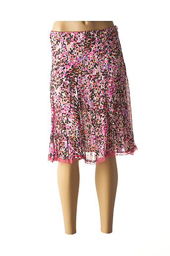 Jupe mi-longue rose CHIC FILLE pour femme