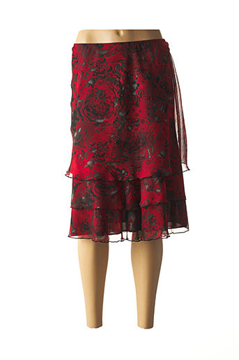 Jupe mi-longue rouge JEAN DELFIN pour femme