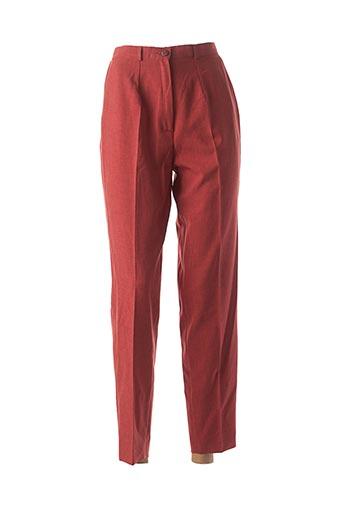 Pantalon casual rouge ALMINA pour femme