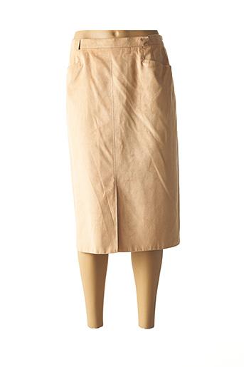 Jupe mi-longue jaune FE EDITION pour femme