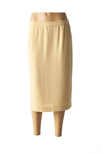 Jupe mi-longue jaune KARTING pour femme