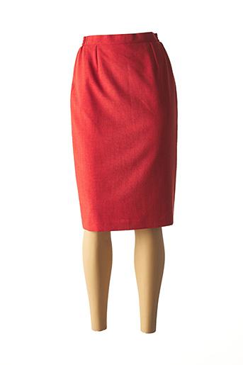 Jupe mi-longue orange ALMINA pour femme