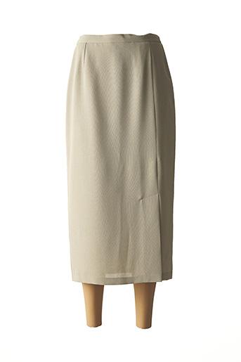 Jupe mi-longue vert GRIFFON pour femme