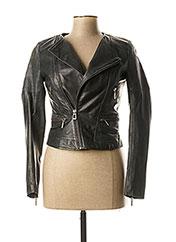 Veste en cuir gris ROSE GARDEN pour femme seconde vue