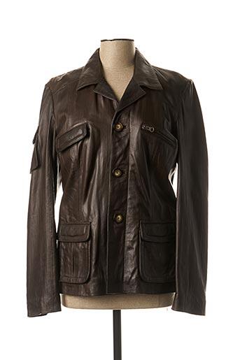 Veste en cuir marron DAYTONA pour femme