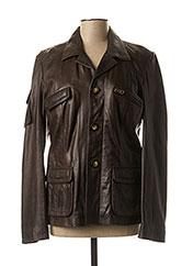 Veste en cuir marron DAYTONA pour femme seconde vue
