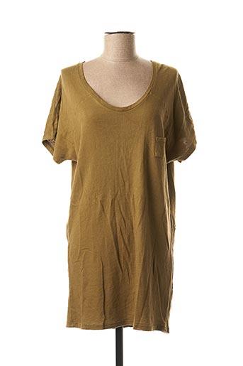 Robe courte vert AMERICAN VINTAGE pour femme