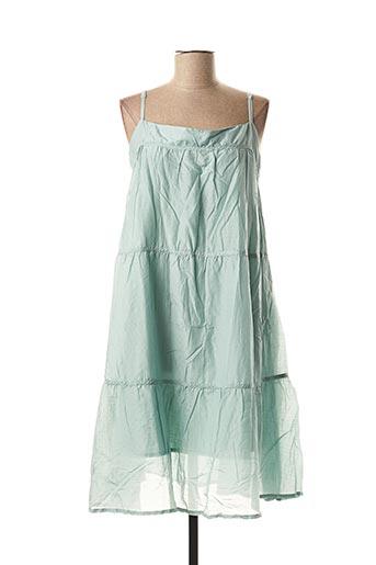 Robe mi-longue vert BLEND SHE pour femme
