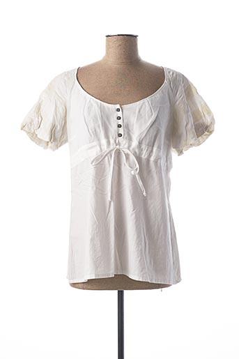 Blouse manches courtes blanc HEL-S pour femme