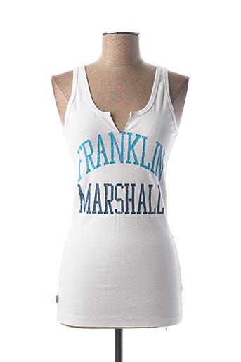 Débardeur blanc FRANKLIN MARSHALL pour femme