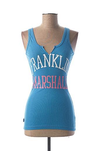 Débardeur bleu FRANKLIN MARSHALL pour femme