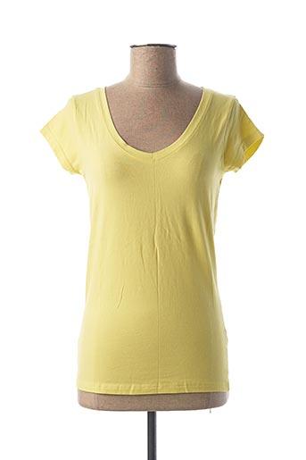T-shirt manches courtes jaune BLEND SHE pour femme