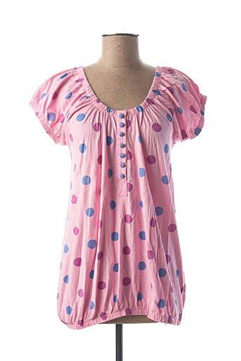T-shirt manches courtes rose ICHI pour femme