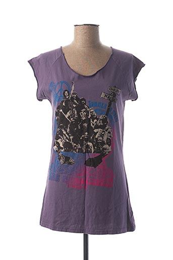 T-shirt manches courtes violet CALIFORNIAN VINTAGE pour femme
