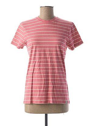 T-shirt manches courtes rose CARHARTT pour femme