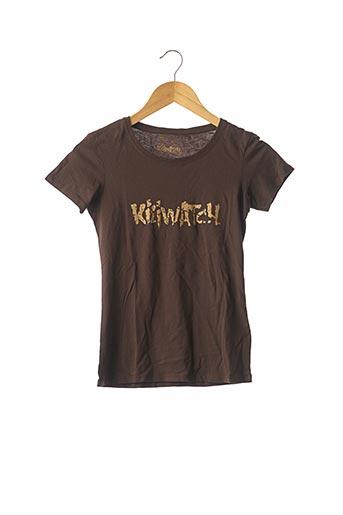 T-shirt manches courtes marron KILIWATCH pour femme