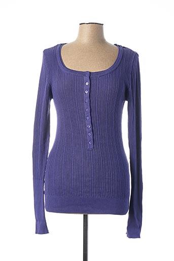 Pull col rond violet BLEND pour femme