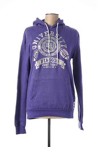 Sweat-shirt violet BIAGGIO pour femme