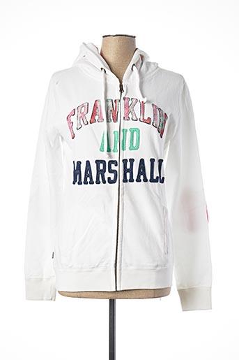 Veste casual blanc FRANKLIN MARSHALL pour femme