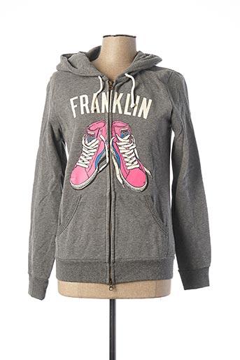Veste casual gris FRANKLIN MARSHALL pour femme