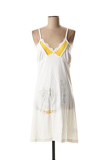 Robe mi-longue blanc BE YOU K pour femme