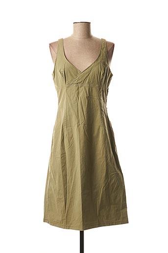 Robe mi-longue vert CIMARRON pour femme