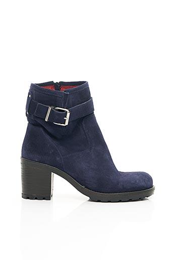 Bottines/Boots bleu E-COW pour femme