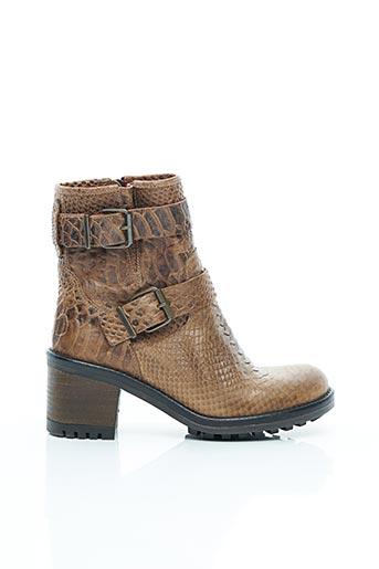 Bottines/Boots marron E-COW pour femme