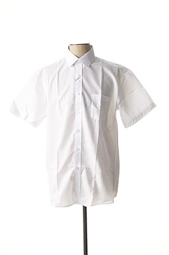 Chemise manches courtes blanc AMPARO pour homme