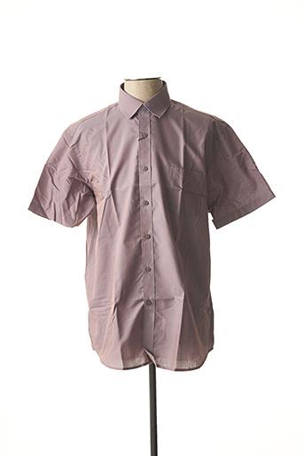 Chemise manches courtes gris AMPARO pour homme