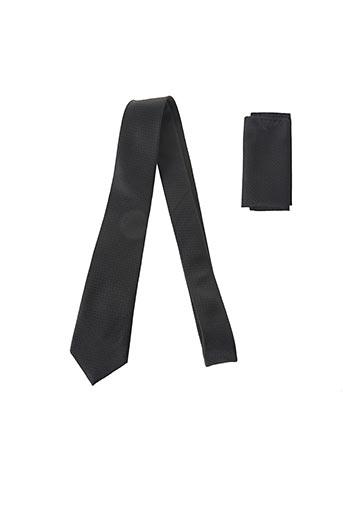 Cravate noir CANOTTI COUTURE pour homme