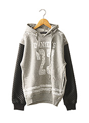 Sweat-shirt gris DANIEL'S MUSIC pour garçon seconde vue