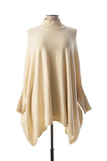 Pull tunique beige C.VALENTYNE pour femme