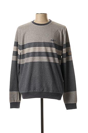 Sweat-shirt gris MONTE CARLO pour homme