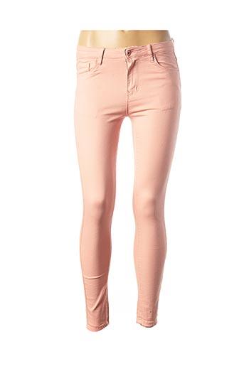 Pantalon casual rose ESTEE BROWN pour femme