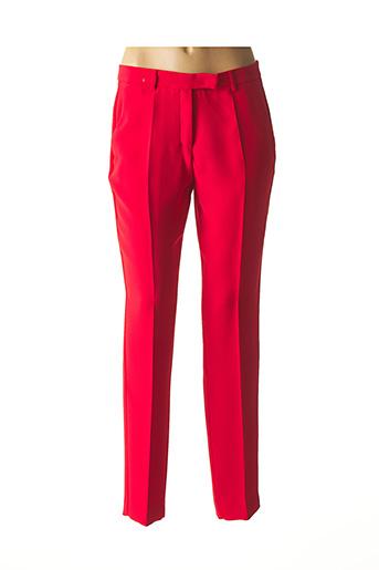 Pantalon chic rouge CARACTERE pour femme