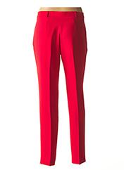 Pantalon chic rouge CARACTERE pour femme seconde vue