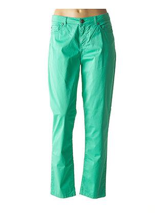Pantalon casual vert MENSI COLLEZIONE pour femme