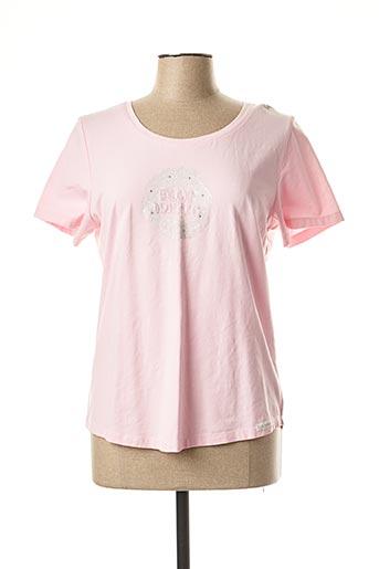 T-shirt manches courtes rose BLUE WILLI'S pour femme