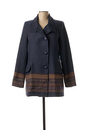 Manteau long bleu MAE MAHE pour femme