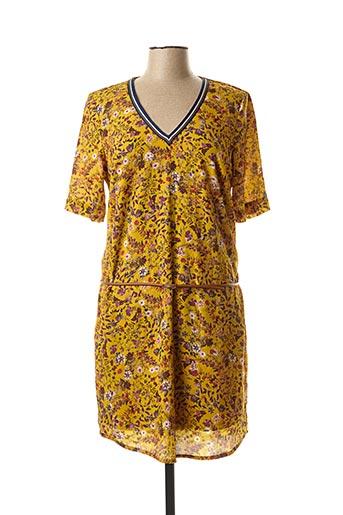 Robe courte jaune MAE MAHE pour femme